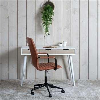 Napoli Desk - White/Wild Oak (H77 x W110 x D50cm)