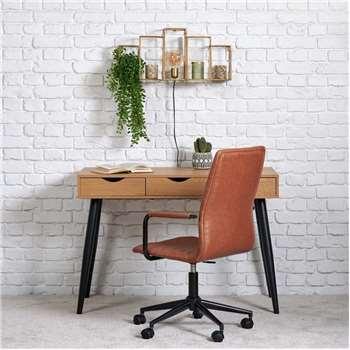 Napoli Desk - Wild Oak (H77 x W110 x D50cm)