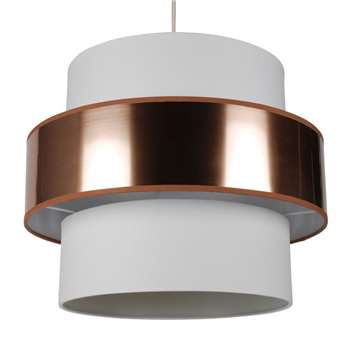 Narelle Pendant Light Shade 40cm Copper/White (H32 x W40 x D40cm)