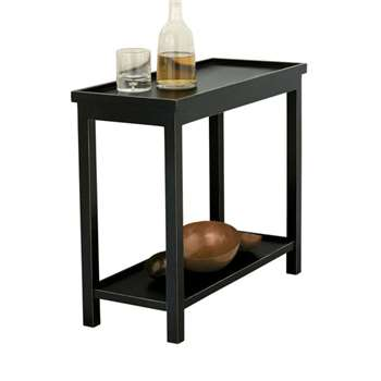 Narrow Jet Side Table, Rubbed Black (60 x 70cm)