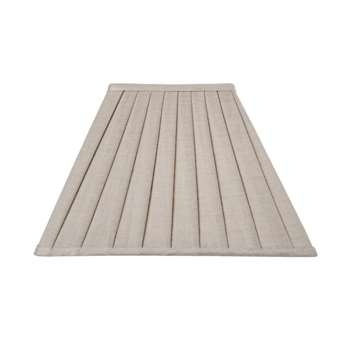 Natural Linen Square Knife Pleat Shade - 12 (21 x 31cm)