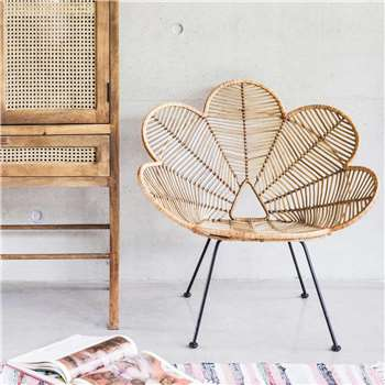 Natural Rattan Peacock Chair (H70 x W85 x D86cm)