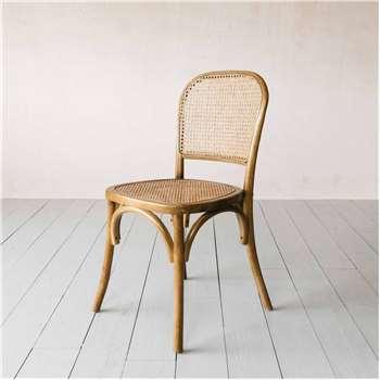Natural Wicker Bistro Chair (H86 x W45 x D42cm)
