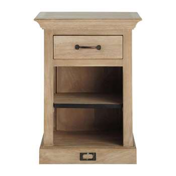 NATURALISTE Bedside table with drawer in mango wood (60 x 45cm)
