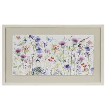 Nature's Florist Pastel Purple Framed Print (38 x 63cm)