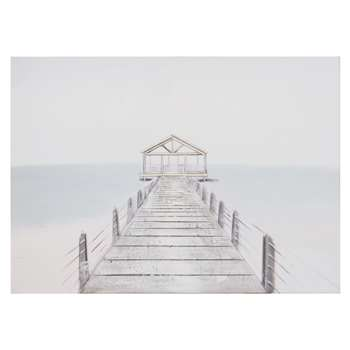 Nautical Print Canvas (H65 x W90 x D2.8cm)