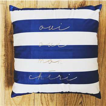 Nautical Stripe Personalised Cushion (H40 x W40cm)