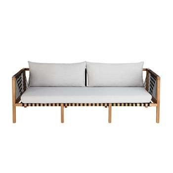 NAXOS Solid Acacia 3-Seater Garden Sofa (68.5 x 212cm)