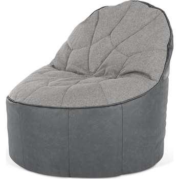 Neeve Bean Bag Chair, Grey (H77 x W77 x D81cm)