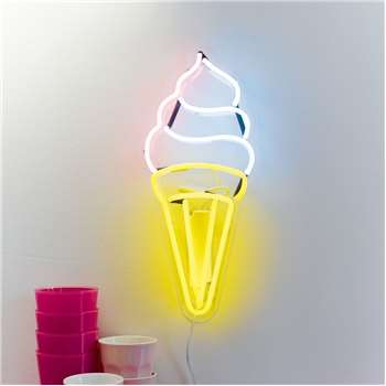 Neon LED Ice Cream Light (H51 x W18.5 x D8.5cm)