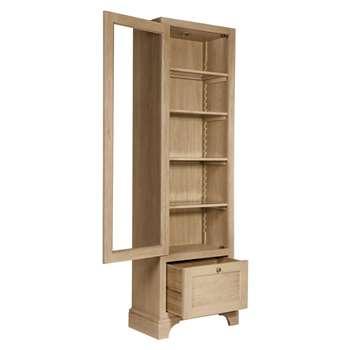 Neptune Henley Glazed Oak Cabinet (H209 x W76 x D42.5cm)