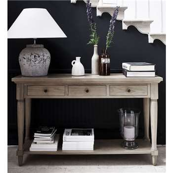 Neptune Henley Oak Console Table