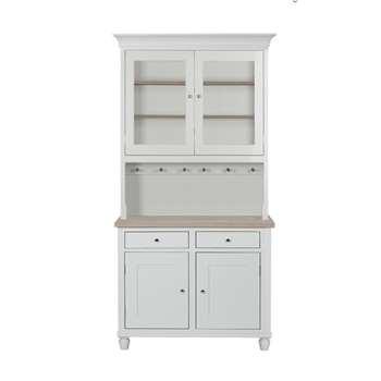 Neptune Suffolk 4ft Glazed Rack Dresser (H209 x W49cm)