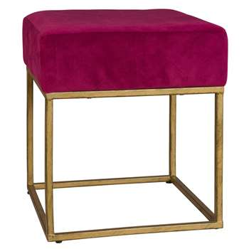 NERO Purple Fabric Stool (40 x 35cm)