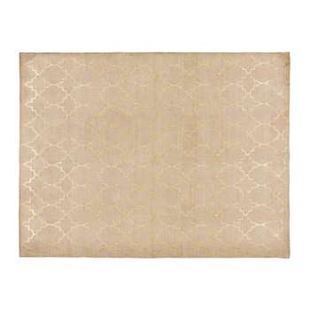 NESTOR gold motif cotton rug (150 x 230cm)