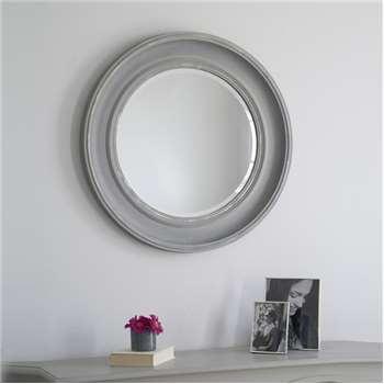 New England Mirror - Grey (Diameter 78cm)