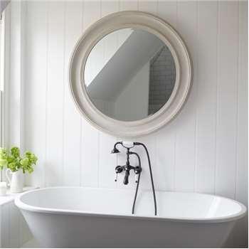 New England Mirror - Patina Grey Large (Diameter 100cm)