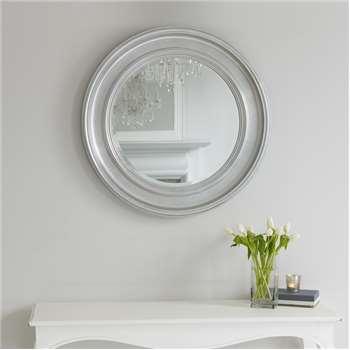 New England Mirror - Silver (Diameter 78cm)