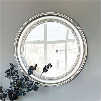 New England Mirror - Silver Large (Diameter 100cm)