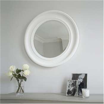 New England Mirror - White (Diameter 78cm)