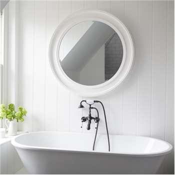 New England Mirror - White Large (Diameter 100cm)