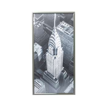 New York Chrysler view art (H166 x W86 x D4.8cm)