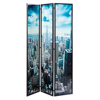 New York Glass Room Divider (H180 x W120cm)