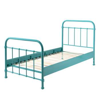 New York Metal Kids Bed in Mint (H110 x W98 x D210cm)