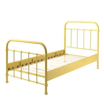 New York Metal Kids Bed in Yellow (H110 x W98 x D210cm)