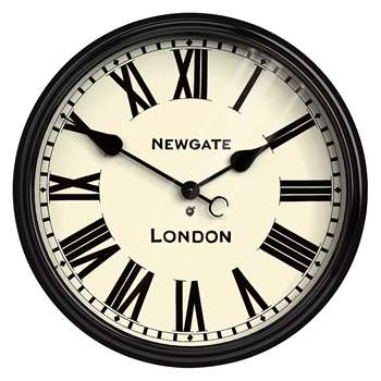 Newgate Battersby Station Wall Clock - Black (Diameter 50cm)
