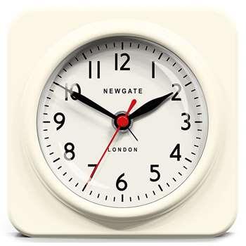 Newgate Biscuit Retro Alarm Clock in White 15 x 15cm