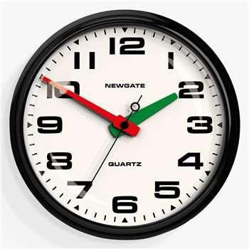 Newgate Brixton Wall Clock, 40cm, Black (H40 x W40 x D11.2cm)