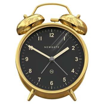 Newgate Charlie Bell Alarm Clock, Metallic (H14 x W9.5 x D5.7cm)