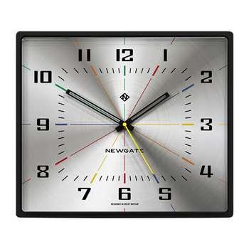 Newgate Clocks - Box Office Clock - Silver (H36 x W42 x D8.2cm)