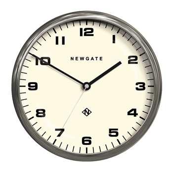 Newgate Clocks - Chrysler Wall Clock - Burnished Steel (H40 x W40cm)