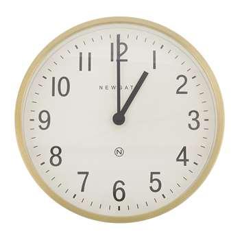 Newgate Clocks - Master Edwards Wall Clock - Radial Brass (H30 x W30 x D7cm)