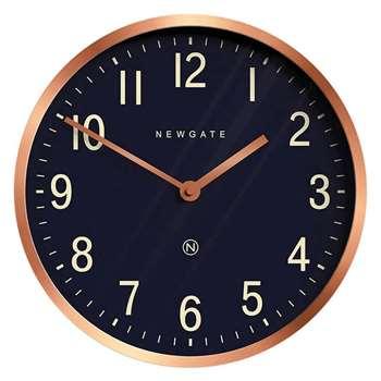 Newgate Clocks - Master Edwards Wall Clock, Radial Copper (Diameter 30cm)