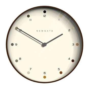 Newgate Clocks - Mr Clarke Clock - Dark Plywood (H40 x W40cm)