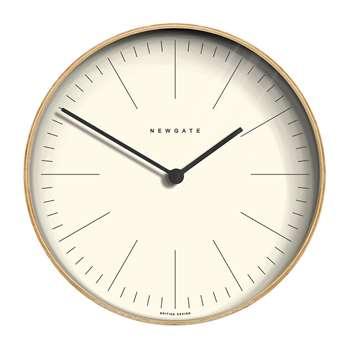 Newgate Clocks - Mr Clarke Clock - Light Plywood (Diameter 40cm)