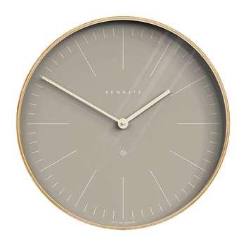 Newgate Clocks - Mr Clarke Wall Clock - Clay Grey Dial (Diameter 53cm)