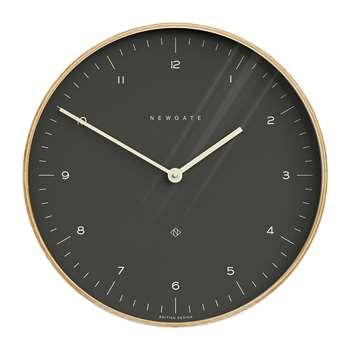 Newgate Clocks - Mr Clarke Wall Clock - Oil Grey Dial (H53 x W53 x D5.5cm)