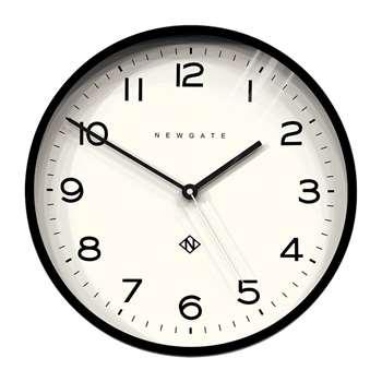 Newgate Clocks - Number Three Echo Wall Clock - Black (H37 x W37 x D4.5cm)