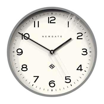 Newgate Clocks - Number Three Echo Wall Clock - Grey (H37 x W37 x D4cm)