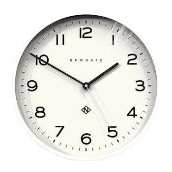 Newgate Clocks - Number Three Echo Wall Clock - White (H37 x W37 x D4cm)