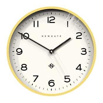 Newgate Clocks - Number Three Echo Wall Clock - Yellow (H37 x W37 x D4cm)
