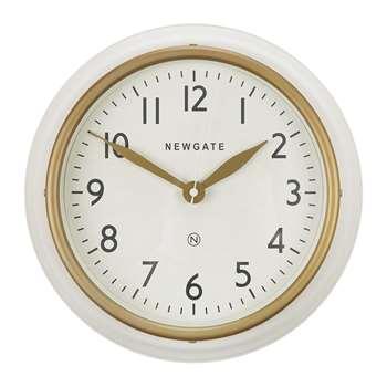 Newgate Clocks - The Cookhouse II Wall Clock - Matt Linen White (H35 x W35 x D10cm)