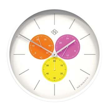 Newgate Clocks - Triptick Clock - Butterfly Wing (H53 x W53 x D7.5cm)