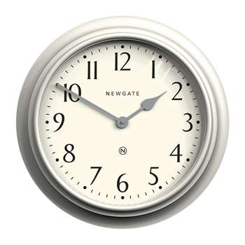 Newgate Clocks - Westhampton Wall Clock - Linen Grey (H50 x W50 x D6.5cm)