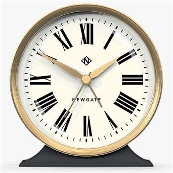 Newgate Hotel Mantel Clock, Black (H12.3 x W11.6 x D4.7cm)