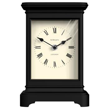 Newgate Library Mantel Clock, Black